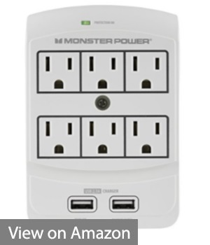 Monster Power Home Office 650 - Best Wall Mounted Surge Protector