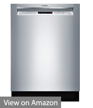 "Bosch SHEM63W55N 24"" 300 Series Built In Full Console Dishwasher with 5 Wash Cycles,in Stainless Steel"