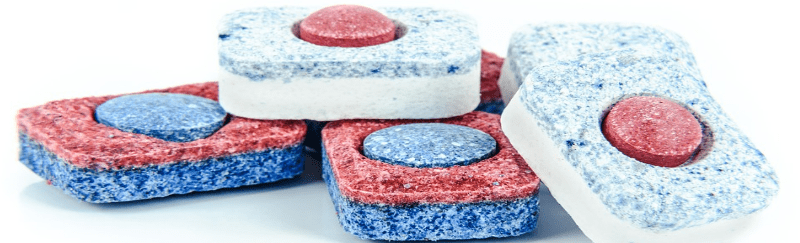 Dishwasher Detergent closeup