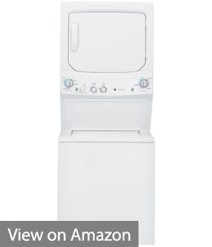 GE UNITIZED GUD27ESSJWW SPACEMAKER 3.2 CU. FT. DOE WASHER & 5.9 CU. FT. ELECTRIC DRYER