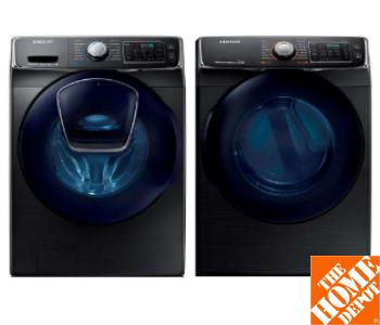Samsung Stainless Steel Washer & Dryer Set - Model# DV45K6500EV Washer & Model #WF45K6500AV Dryer