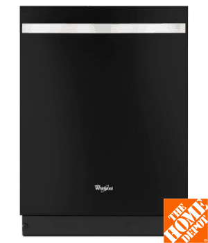 Whirlpool Gold Series Top Control Dishwasher in Black Ice with Silverware Spray